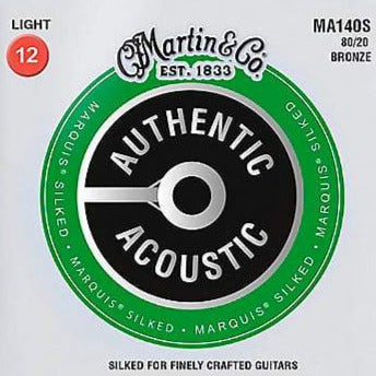 Martin MA140S Authentic Silked Light 80/20 Guitar Strings