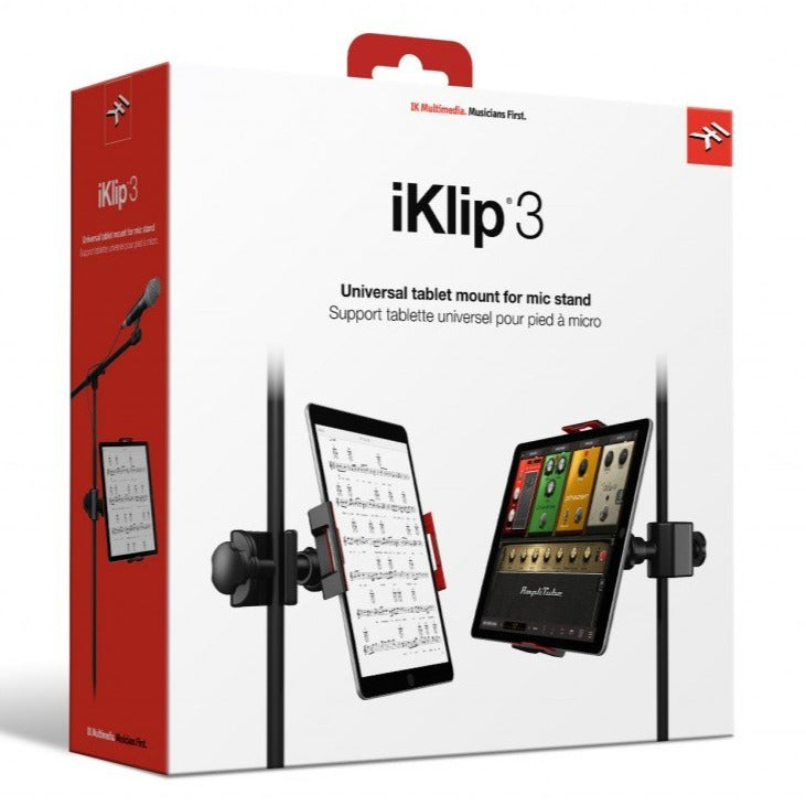 IK Multimedia IP-IKLIP-3-IN iKlip 3 iPad Music Stand mount for iPad and Tablets