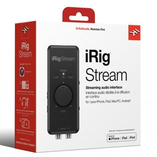 IK Multimedia IRIG-STREAM iRig Stream stereo audio interface for Mobile Devices