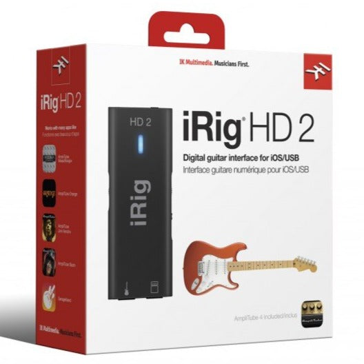 IK Multimedia IP-IRIG-HD2-IN iRig HD 2 Studio-Quality Guitar Interface for iOS and Mac