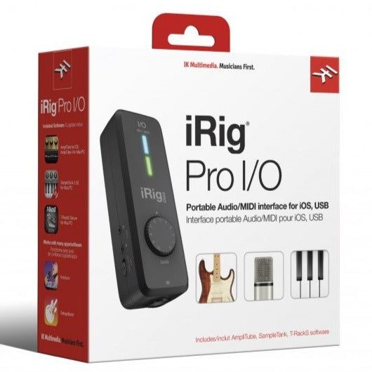IK Multimedia IP-IRIG-PROIO-N iRig Pro I/O Instrument/Microphone Interface for iOS Devices