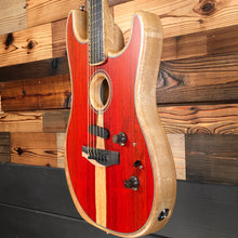 Load image into Gallery viewer, Fender 097-2023-096 LTD American Acoustasonic Strat Electric Guitar, Cocobolo (#US205251A)