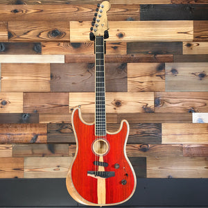 Fender 097-2023-096 LTD American Acoustasonic Strat Electric Guitar, Cocobolo (#US205251A)