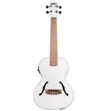 Load image into Gallery viewer, Kala Kala KA-JTE/MTW Tenor Spruce Top Mahogany Archtop Ukulele, Metallic White - Easy Music Center