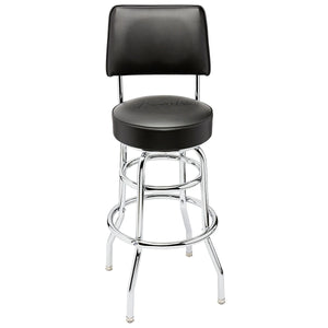 "Fender 910-0335-000 30"" Backrest Barstool, Black"