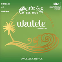 Load image into Gallery viewer, Martin M610 Concert Ukulele Polygut Strings
