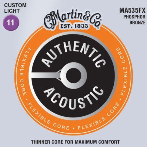 Martin MA535FX Authentic Flexible Core, Custom Light, 92/8, 11-52