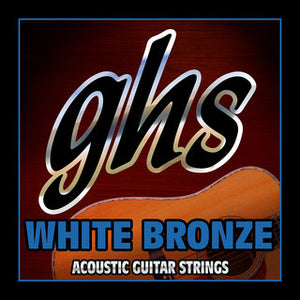 GHS WBXL White Bronze Extra Light Acoustic Guitar Strings 11-48