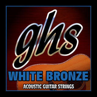 GHS WBL White Bronze Acoustic Guitar Strings Std Light 12-54