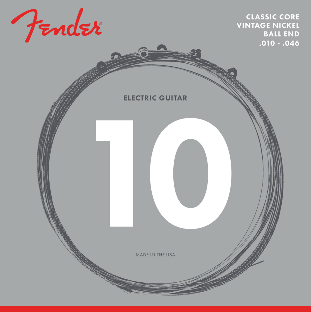 Fender 073-0155-406 Classic Core Electric Guitar Strings, 155R