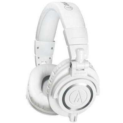 Audio-Technica Audio-technica ATH-M50XWH Pro Closed-back Headphone, Full, White - Easy Music Center