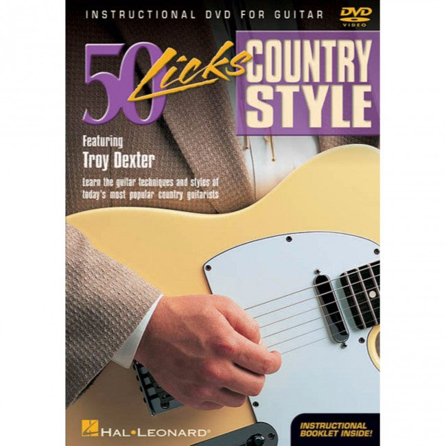 Hal Leonard HL00320378 50 Licks Country Style