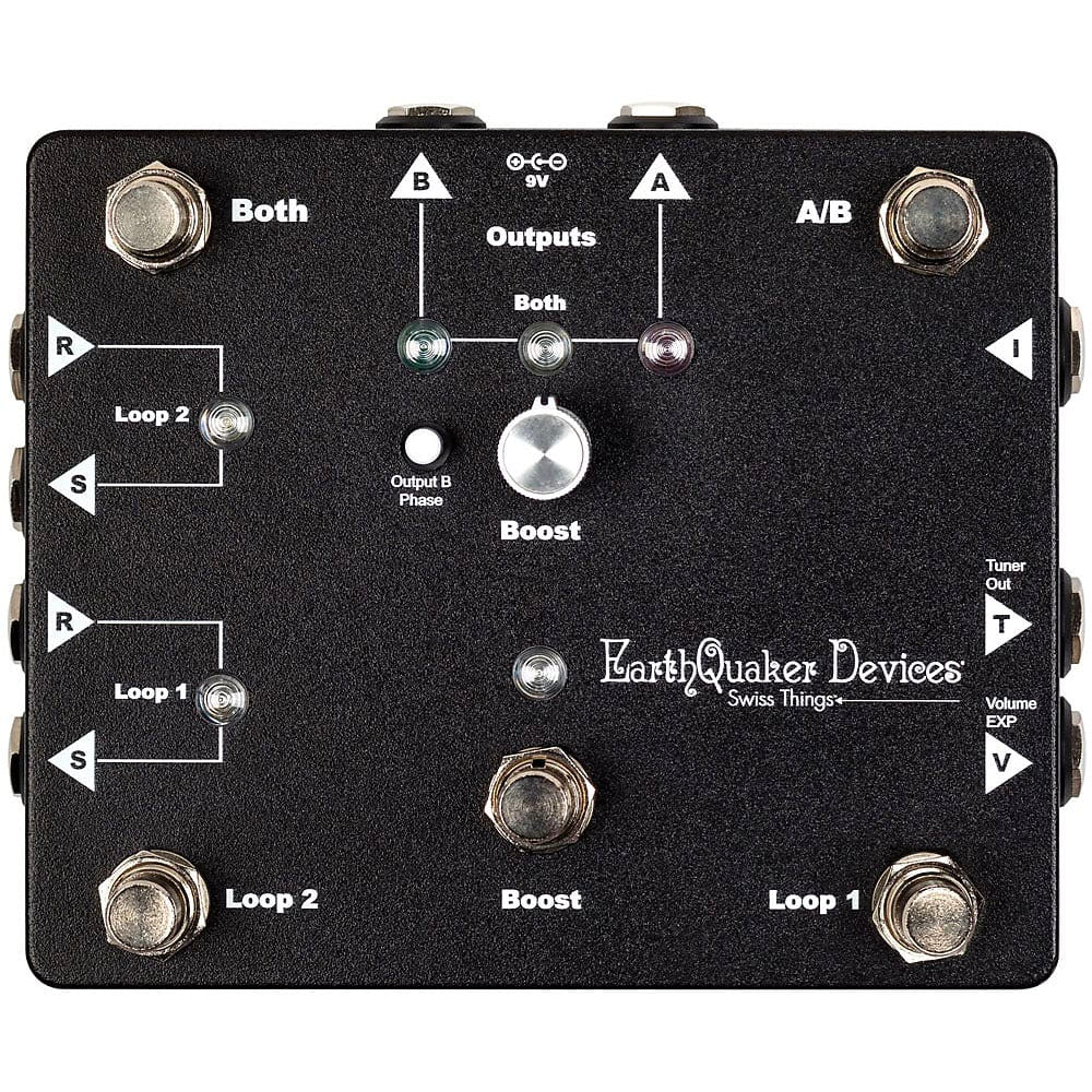 Earthquaker SWISSTHINGS All-in-one Pedalboard Reconciliation Solution
