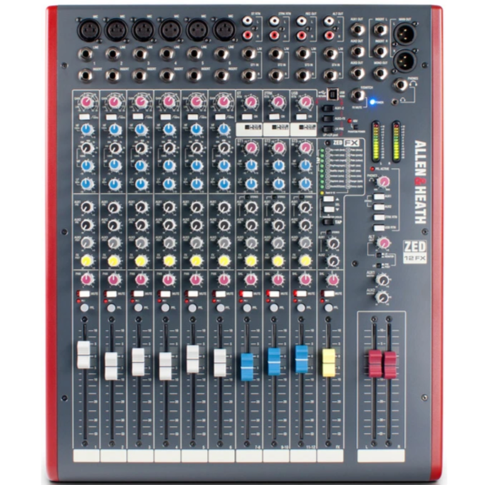 Allen and Heath ZED-12FX 12-Channel Analog Mixer