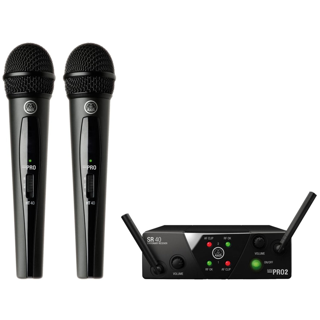 AKG WMS40MINI2-V-AC Dual Wireless Vocal Microphone System, Band AC
