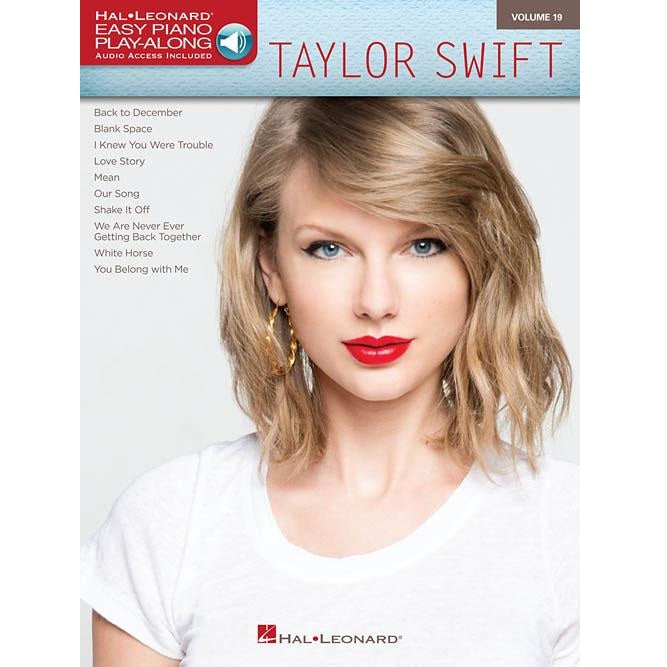 Hal Leonard HL00142735 Taylor Swift Easy Piano Play-along Volume 19