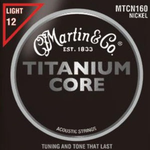 Martin 41MTCN160 Titanium Core Acoustic Guitar Strings Nickel Wrap Light Tension