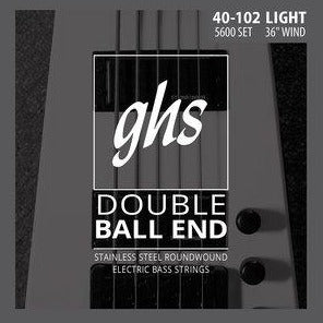 GHS 5L-DBB Double Ball End 5 String Bass Strings 40-126