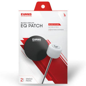 Evans EQ Single Pedal Patch, Black Nylon