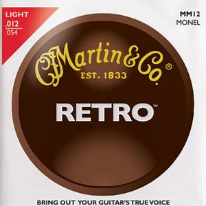 Martin MM12 Retro Light Guitar Strings - Monel