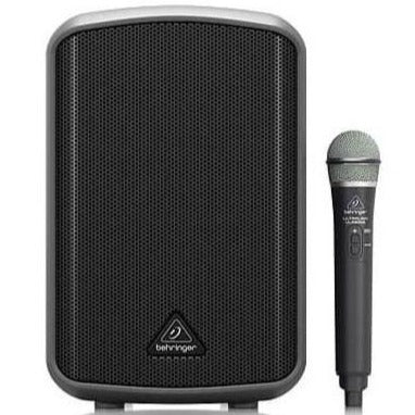Behringer MPA100BT All-in-One Portable Battery Powered 100-Watt Speaker with Wireless Microphone