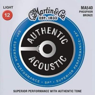 Martin MA540 SP Authentic PB Light Guitar Strings, 12-56