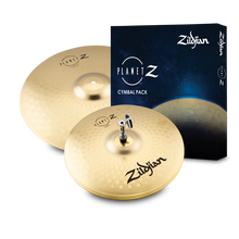 "Load image into Gallery viewer, Zildjian ZP1418 Planet Z Fundamentals Cymbal Pack (14"" Hats, 18"" Crash Ride)"