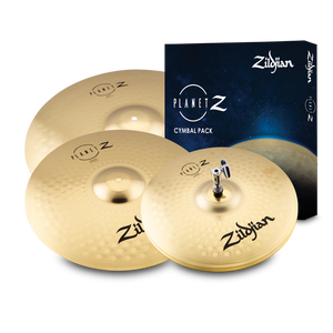 "Zildjian ZP4PK Planet Z 4 Cymbal Pack  14"" Hats, 16"" Crash, 20"" Ride"