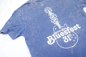 GUITAR LOVER TEE - Blue stonewashed
