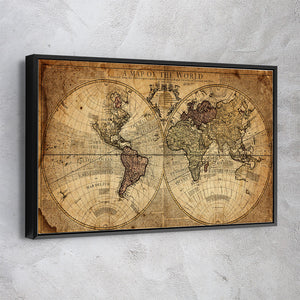 Globe Tan Map World Map