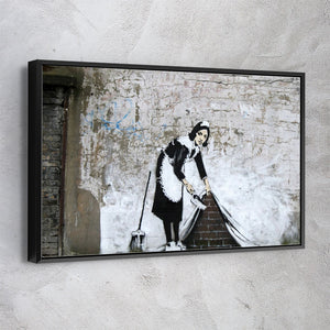 Maid Sweeping - Banksy