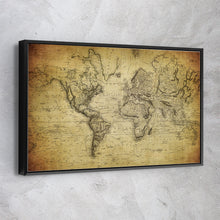 Load image into Gallery viewer, 1850 Vintage World Map