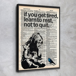 Learn To Rest - Banksy