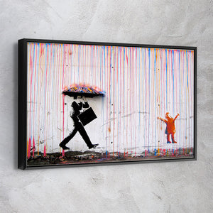 Singing in The Coloured Rain - Banksy