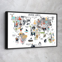 Load image into Gallery viewer, Animal World Kids Map