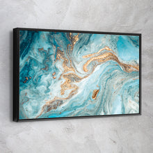 Load image into Gallery viewer, Turquoise Marble Gold Glitter
