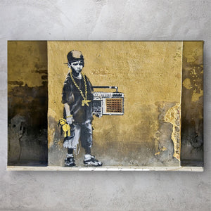 Gangsta Boy Hip Hop - Banksy