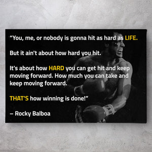 Rocky Balboa That's How Winning is Done Quote
