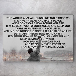 Rocky Balboa The World Ain't All Sunshine And Rainbows
