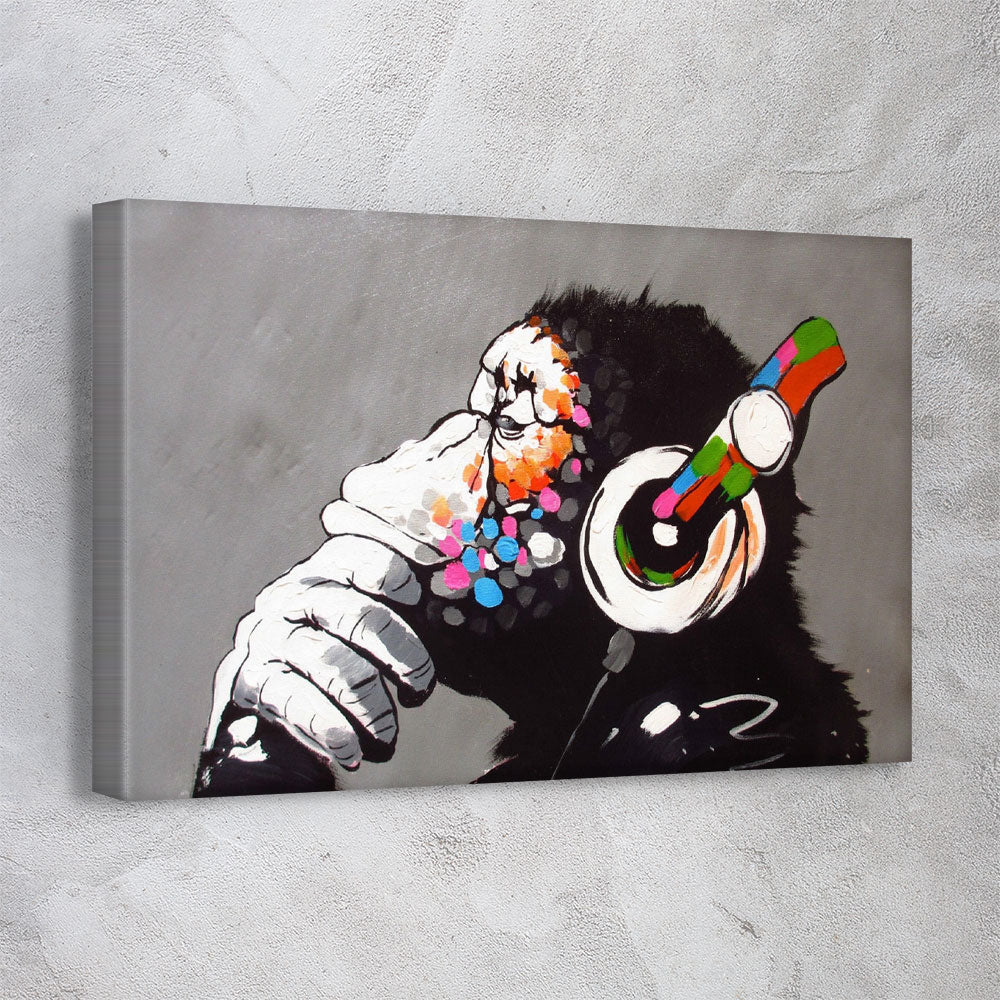 DJ Monkey Gorilla Chimp - Banksy