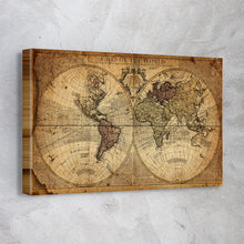 Load image into Gallery viewer, Globe Tan Map World Map