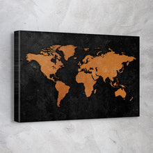 Load image into Gallery viewer, Vintage Rustic World Map