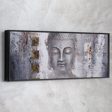 Load image into Gallery viewer, Buddha Painting Black White