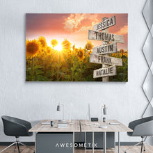 Load image into Gallery viewer, Sunrise Sunflower Multi Name