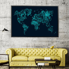 Load image into Gallery viewer, Blue World Map