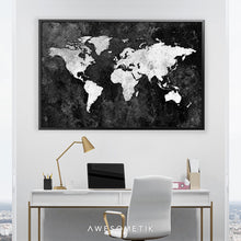 Load image into Gallery viewer, Black World Map