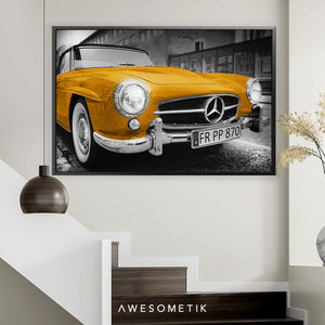 Mercedes-Benz Yellow Vintage Sport