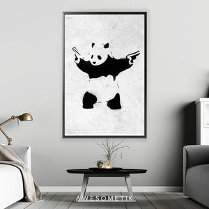 Panda With Guns - Banksy