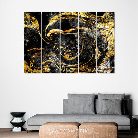Dark Black and Gold Marble