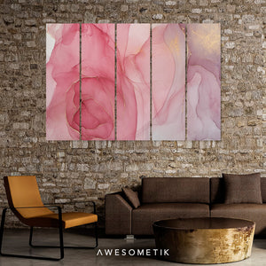 Pink Marbling Abstract